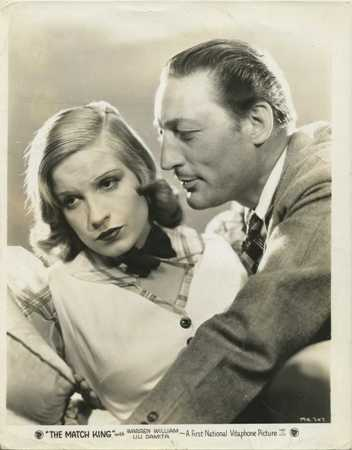 Promotional photo features Lili Damita with Warren William in The Match King