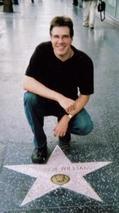 Author John Stangeland at Warren Williams star on Hollywood Walk of Fame