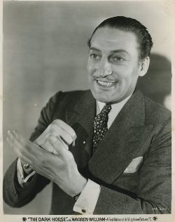 Promotional Photo for Warren William in The Dark Horse