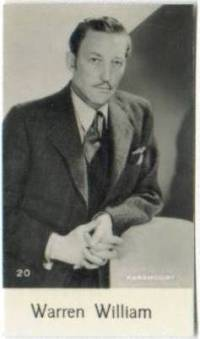 Warren William 1930s Bridgewater Trading Card