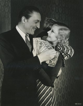 Warren William and Ginger Rogers in Gold Diggers of 1933