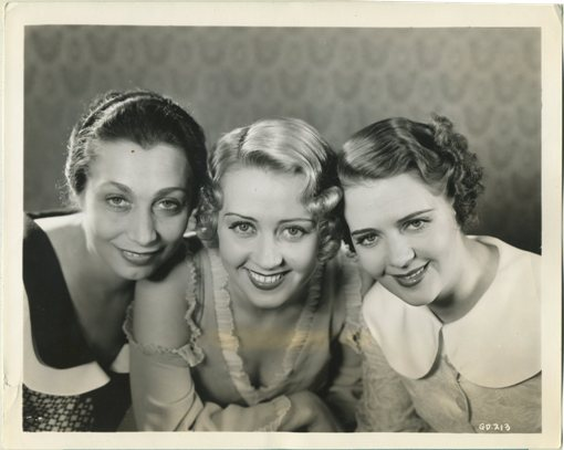 Aline MacMahon, Joan Blondell and Ruby Keeler