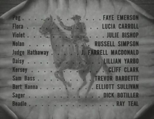 Wild Bill Hickok Rides credits