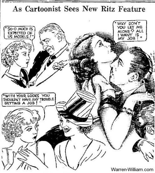 Employees Entrance cartoon published February 11 1933