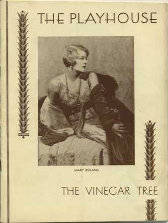 Mary Boland on the cover of The Vinegar Tree program
