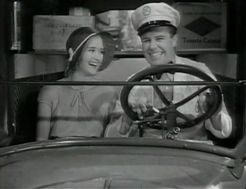 Margie and Jimmie, happy