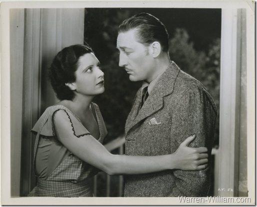 Warren William with Kay Francis in Living on Velvet