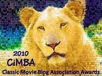 Classic Movie Blog Association CiMBA Award Winning Post
