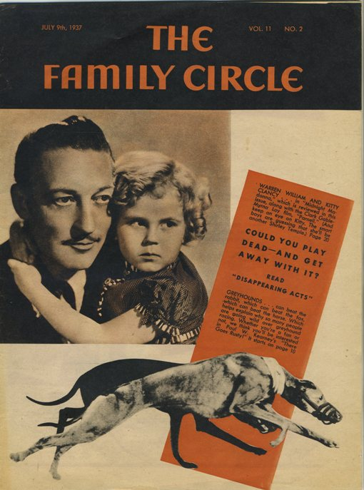 Warren William Kitty Clancy Family Circle 1937