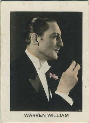 Warren William 1930s Orami Tobacco Card from Germany