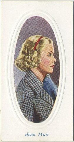 Jean Muir 1936 Godfrey Phillips Tobacco Card