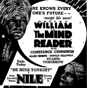 Discussing The Mind Reader (1933) on Forgotten Filmcast; Plus Other Site News
