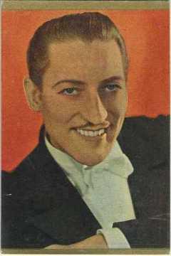 Warren William 1937 Danmarks Trading Card