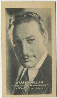 Warren William 1934 Golden Grain Tobacco Card