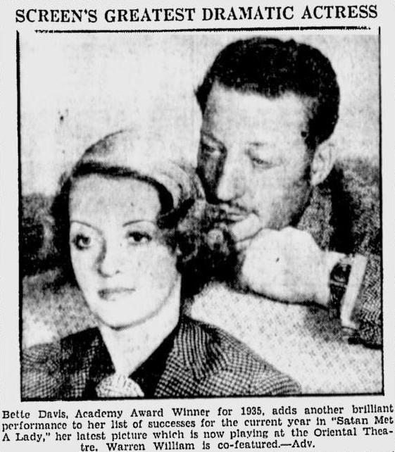 Bette Davis and Warren William